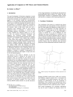 Application of Computers to MO Theory and Chemical Kinetics.