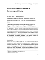 Application of Electrical Fields in Dewatering and Drying.