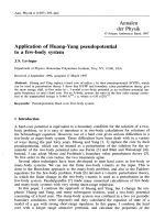 Application of Huang-Yang pseudopotential to a few-body system.