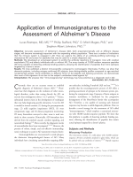 Application of immunosignatures to the assessment of Alzheimer's disease.