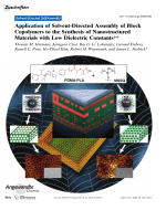 Application of Solvent-Directed Assembly of Block Copolymers to the Synthesis of Nanostructured Materials with Low Dielectric Constants.