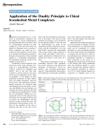 Application of the Duality Principle to Chiral Icosahedral Metal Complexes.