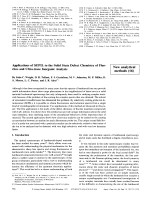 Applications of SEPIL to the Solid State Defect Chemistry of Fluorites and Ultra-trace Inorganic Analysis [New analytical methods (16)].