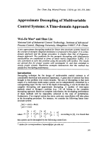 Approximate Decoupling of Multivariable Control Systems  A Time-domain Approach.