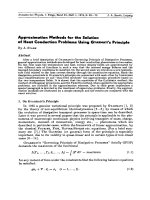 Approximation Methods for the Solution of Heat Conduction Problems Using Gyarmati's Principle.