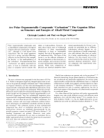 Are Polar Organometallic Compounds УCarbanionsФ The Gegenion Effect on Structure and Energies of Alkali-Metal Compounds.