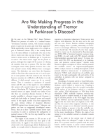Are we making progress in the understanding of tremor in Parkinson's disease.