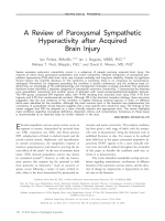 Areview of paroxysmal sympathetic hyperactivity after acquired brain injury.