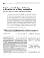 Argininosuccinate lyase deficiencyЧArgininosuccinic aciduria and beyond.