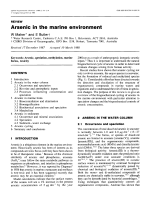 Arsenic in the marine environment.