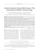 Arterial ischemic stroke risk factors  The international pediatric stroke study.