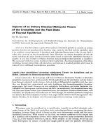 Aspects of an Unitary Classical Molecular Theory of the Crystalline and the Fluid State at Thermal Equilibrium.