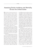 Assessing stroke incidence and mortality Across the United States.