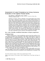 Assessment of luteal competency by urinary hormone evaluation in the captive female gorilla.