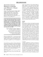 Association between bleomycin hydrolase and Alzheimer's disease in caucasians.
