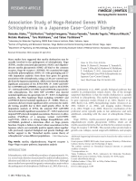 Association study of Nogo-related genes with schizophrenia in a Japanese caseЦcontrol sample.