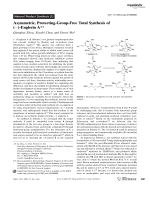 Asymmetric  Protecting-Group-Free Total Synthesis of ()-EnglerinA.
