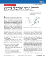 Asymmetric Alkynylation of Imines by Cooperative Hydrogen Bonding and Metal Catalysis.