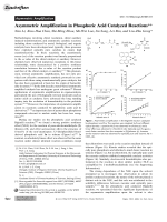 Asymmetric Amplification in Phosphoric Acid Catalyzed Reactions.