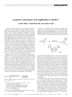 Asymmetric Autocatalysis with Amplification of Chirality.