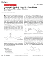 Asymmetric Catalysis Using Air  Clean Kinetic Resolution of Secondary Alcohols.