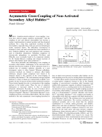 Asymmetric Cross-Coupling of Non-Activated Secondary Alkyl Halides.