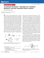 Asymmetric Reductive Amination by Combined Brnsted Acid and Transition-Metal Catalysis.