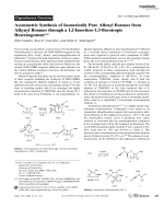 Asymmetric Synthesis of Isomerically Pure Allenyl Boranes from Alkynyl Boranes through a 1 2-InsertionЦ1 3-Borotropic Rearrangement.