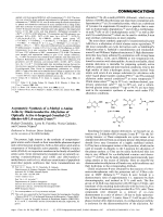 Asymmetric Synthesis of -Methyl -Amino Acids by Diastereoselective Alkylation of Optically Active 6-Isopropyl-3-methyl-2 3Чdihydro-6H-1 4-oxazin-2-ones.