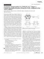 Asymmetric Tetraprotonation of -[(SiO4)W10O32]8 Triggers a Catalytic Epoxidation Reaction  Perspectives in the Assignment of the Active Catalyst.