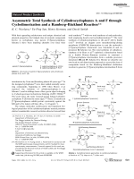 Asymmetric Total Synthesis of CylindrocyclophanesA and F through Cyclodimerization and a RambergЦBcklund Reaction.