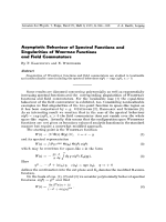 Asymptotic Behaviour of Spectral Functions and Singularities of Wightman Functions and Field Commutators.