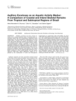 Auditory exostoses as an aquatic activity marker  A comparison of coastal and inland skeletal remains from tropical and subtropical regions of Brazil.
