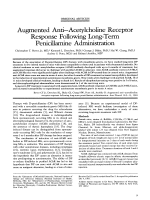 Augmented antiЧacetylcholine receptor response following long-term penicillamine administration.