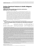 Autism spectrum features in SmithЦMagenis syndrome.