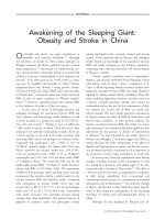 Awakening of the sleeping giant  Obesity and stroke in China.