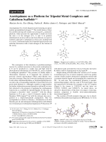 Azatriquinane as a Platform for Tripodal Metal Complexes and Calixiform Scaffolds.