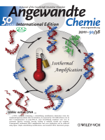 Back Cover  Tuning DNA Stability To Achieve Turnover in Template for an Enzymatic Ligation Reaction (Angew. Chem. Int. Ed. 382011)