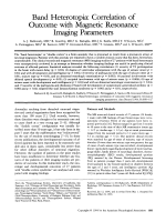 Band heterotopia  Correlation of outcome with magnetic resonance imaging parameters.