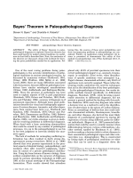 Bayes' theorem in paleopathological diagnosis.