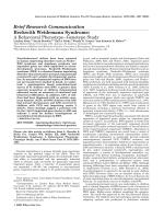 Beckwith Weidemann syndrome  A behavioral phenotypeЦgenotype study.