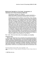 Behavioral sampling in the field  Comparison of individual and group sampling methods.
