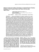 Behavior-induced auditory exostoses in imperial Roman society  Evidence from coeval urban and rural communities near Rome.