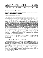 Bemerkungen zu der Arbeit ДA Note on the Spin-Lattice Relaxation of Nuclei in LiquidsФ von J. G. POWLES und R. FIGGINS
