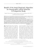 Benefit of the Awaji diagnostic algorithm for amyotrophic lateral sclerosis  A prospective study.