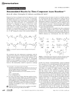 Benzannulated Bicycles by Three-Component Aryne Reactions.