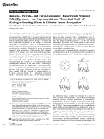 Benzene-  Pyrrole-  and Furan-Containing Diametrically Strapped Calix[4]pyrrolesЧAn Experimental and Theoretical Study of Hydrogen-Bonding Effects in Chloride Anion Recognition.