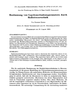 Bestimmung von Copolymerisationsparametern durch Radiotracertechnik.