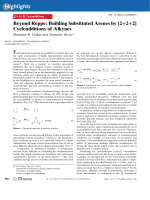 Beyond Reppe  Building Substituted Arenes by [2+2+2] Cycloadditions of Alkynes.