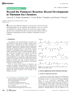 Beyond the Pummerer Reaction  Recent Developments in Thionium Ion Chemistry.